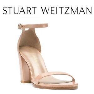 New Stuart Weitzman NearlyNude Leather Sandal